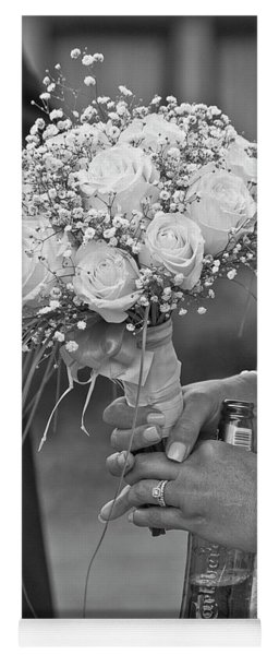 A Bride A Bouquet And A Beer Yoga Mat
