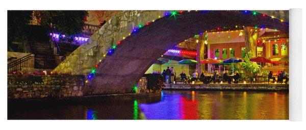 A Casa Rio Christmas On The Riverwalk Yoga Mat