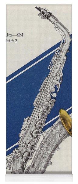 A Charles Gerard Conn Eb Alto Saxophone Yoga Mat