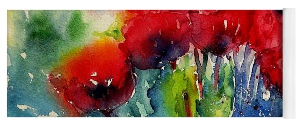 A Cluster Of Wild Poppies  Yoga Mat