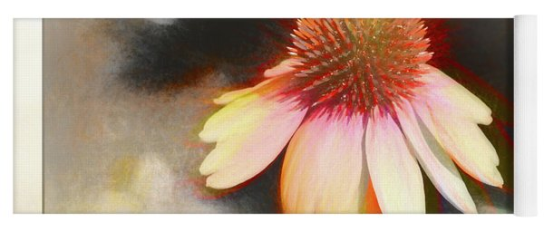 A Colorful Coneflower With Bokeh Yoga Mat