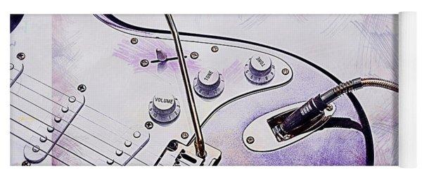 A Cool Purple Guitar Yoga Mat