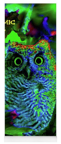 A Cosmic Owl In A Psychedelic Forest Yoga Mat