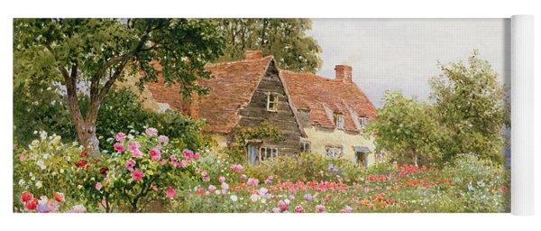 A Cottage Garden Yoga Mat