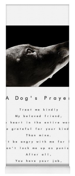 A Dog's Prayer In White  A Popular Inspirational Portrait And Poem Featuring An Italian Greyhound Yoga Mat
