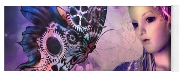 A Fairy Butterfly Kiss Yoga Mat