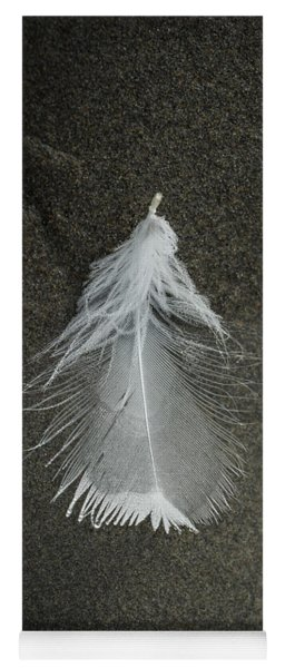 A Feather At The Edge Of The Water Yoga Mat