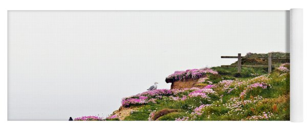 A Foggy Day At Lighthouse Hill Portreath Yoga Mat
