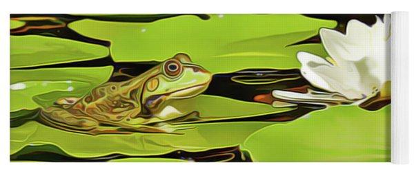 A Frog's Peace Yoga Mat