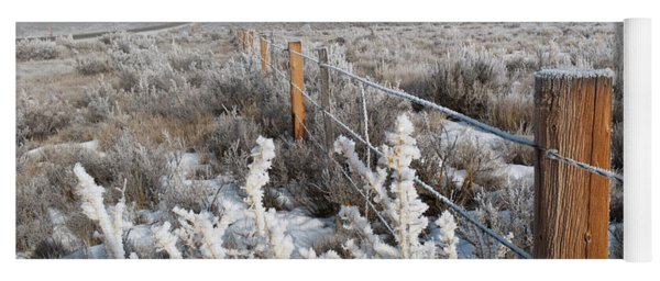 Yoga Mat featuring the photograph A Frosty And Foggy Morning On The Way To Steamboat Springs by Cascade Colors