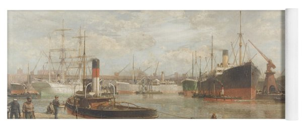 A Glimpse In 1920 Of The Royal Edward Dock, Avonmouth Yoga Mat
