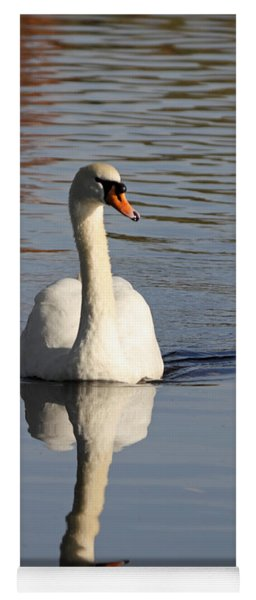A Graceful Mute Swan Uk Yoga Mat