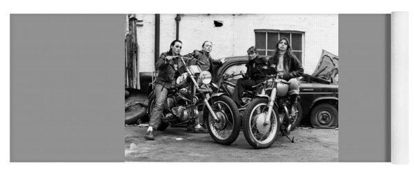 A Group Of Women Associated With The Hells Angels, 1973. Yoga Mat