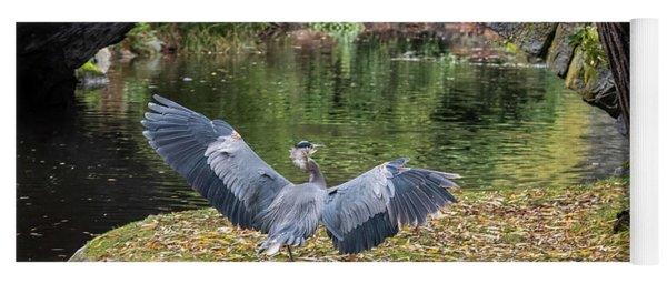 A Heron's Wings Yoga Mat
