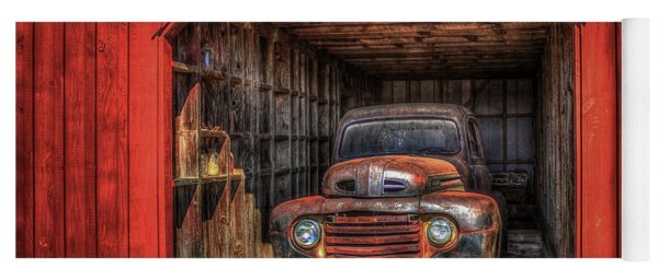 A Hiding Place 1949 Ford Pickup Truck Yoga Mat