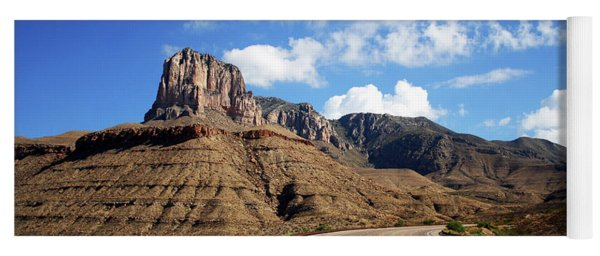 A Highway To Guadalupe Mountains National Park Yoga Mat