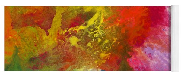 Yoga Mat featuring the painting A Journey Through Color by Darice Machel McGuire