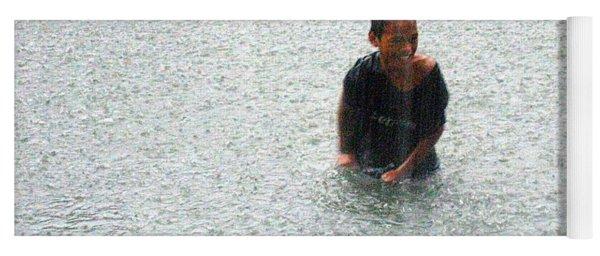 A Kid In Tropical Storm Typhoon Ondoy Yoga Mat