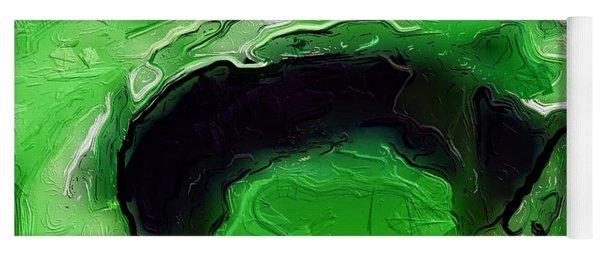 A Lifeless Planet Green Yoga Mat