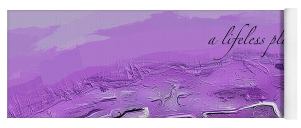 Yoga Mat featuring the digital art A Lifeless Planet Purple by ISAW Company