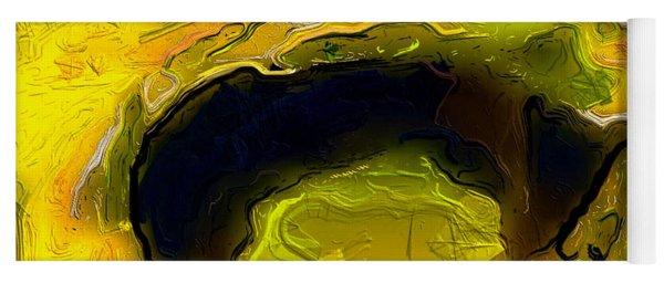 A Lifeless Planet Yellow Yoga Mat