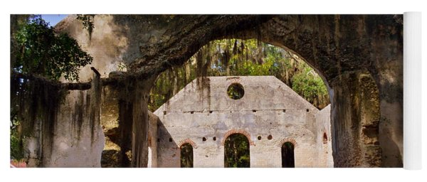 A Look Into The Chapel Of Ease St. Helena Island Beaufort Sc Yoga Mat