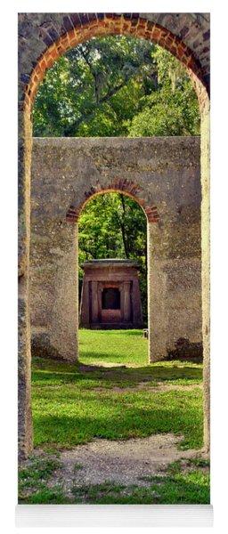 A Look Through Chapel Of Ease St. Helena Island Beaufort Sc Yoga Mat