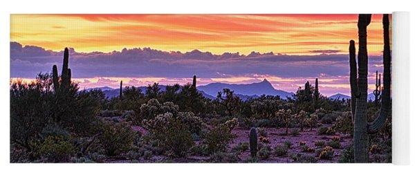 A Magical Desert Morning  Yoga Mat