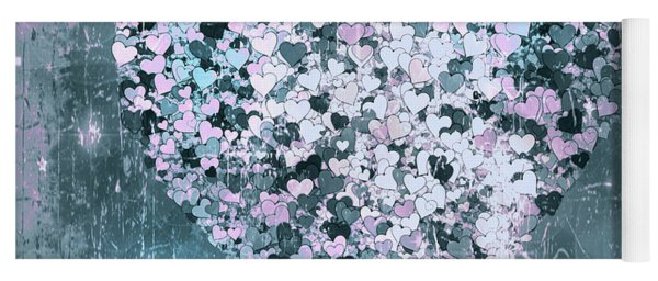 A Marriage Of Hearts Grunge Contemporary Yoga Mat