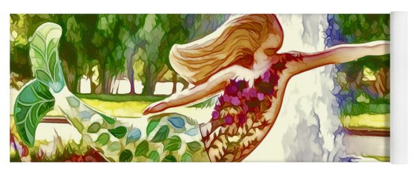 A Mermaid In A Norfolk Botanical Gardens 1 Yoga Mat