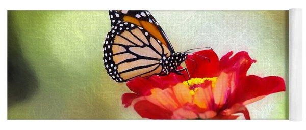 A Monarch Moment Yoga Mat