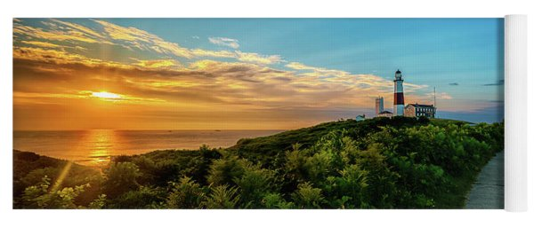 A Montauk Lighthouse Sunrise Yoga Mat