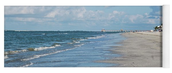 A Morning Walk On Fort Myers Beach Fort Myers Florida Yoga Mat