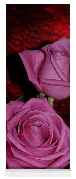 A Pair Of Pink Roses Yoga Mat