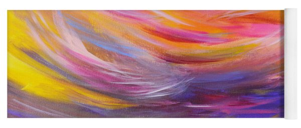 A Peaceful Heart - Abstract Painting Yoga Mat