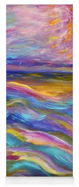 A Peaceful Mind - Abstract Painting Yoga Mat