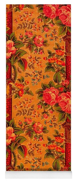 Peonies Roses And Bamboo Anglo Japonesque  1870s Victorian Tapestry Yoga Mat
