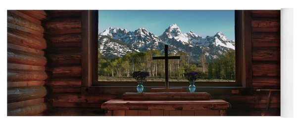 A Pew With A View Yoga Mat