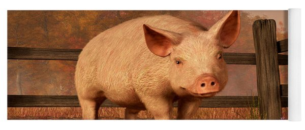 A Pig In Autumn Yoga Mat