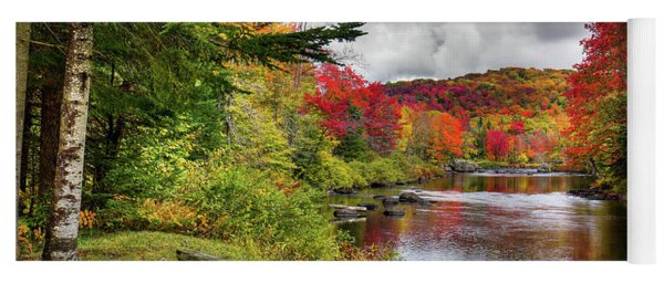 A Place To View Fall Color Yoga Mat