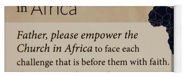 A Prayer For Africa Prayer Art Yoga Mat
