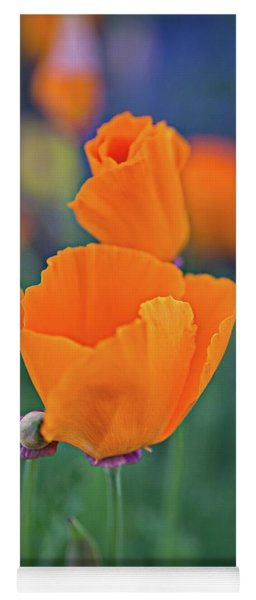 Yoga Mat featuring the photograph A Pretty Pair Of Poppies At Oak Glen Preserve by Lynn Bauer