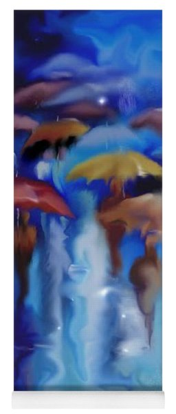 Yoga Mat featuring the digital art A Rainy Day In Paris by Darren Cannell