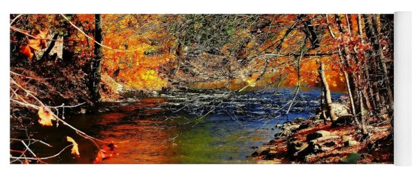 A River Runs Through It Yoga Mat