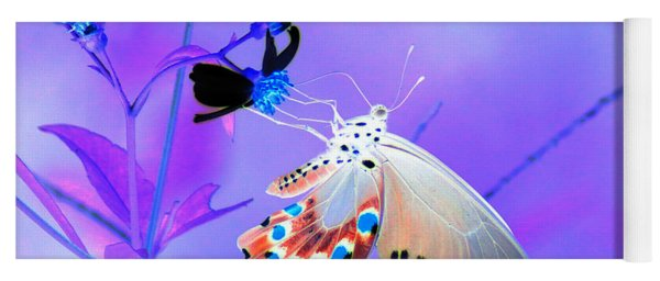 A Strange Butterfly Dream Yoga Mat