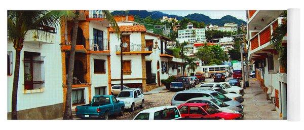 A Street In Puerto Vallarta Yoga Mat