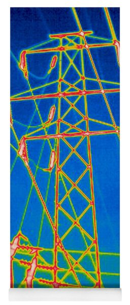 A Thermogram Of High Voltage Power Lines Yoga Mat