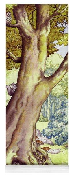 A Tree Full Of Wildlife Yoga Mat