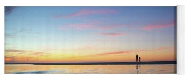 A Twilight Beach Walk Yoga Mat