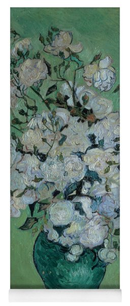 A Vase Of Roses Yoga Mat